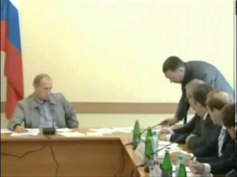 【おそロシア】プーチン首相、ペン放り出して財閥社長を震え上がらせる【激おこプーチン丸】 - YouTube