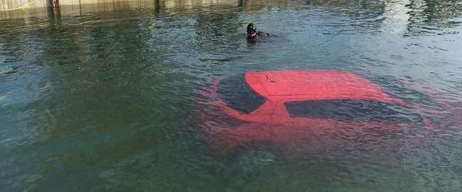 カナダ人女性 カーナビを信じて湖に突っ込む