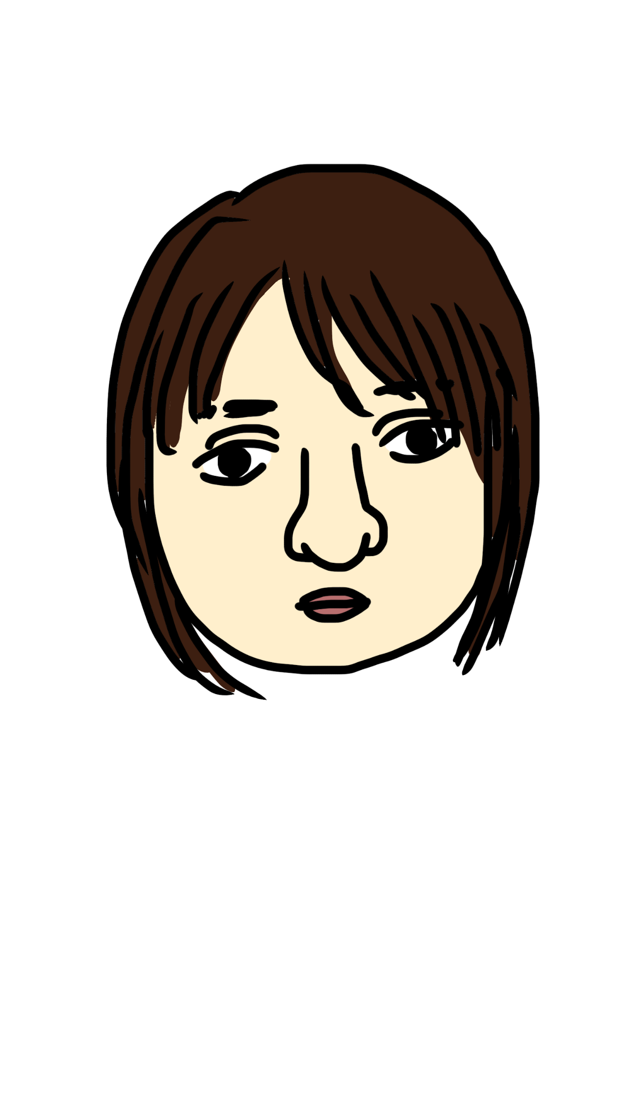 自分の似顔絵を描いて下さい。