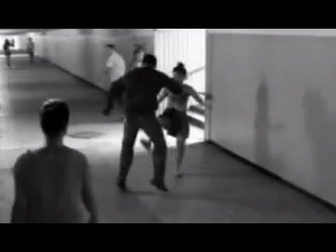 カンフー少女が窃盗男を回し蹴りで撃退