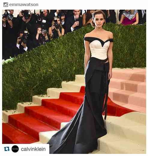 """エマ・ワトソン、""""ペットボトル再生ドレス""""が美しいと話題 世界中から称賛の声 - モデルプレス"""