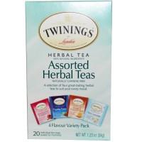 Twinings, Assorted Herbal Teas, Variety Pack, Caffeine Free, 20 Tea Bags, 1.23 oz (34 g) - iHerb.com