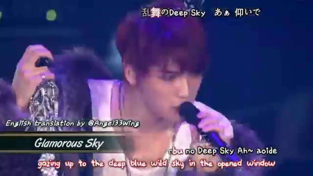 Kim Jaejoong 김재중 - Glamorous Sky (2013 Concert in Tokyo Dome) [eng + romaji + 日本語 + karaoke sub] - YouTube