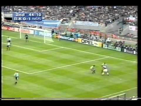 1998年06月14日 フランスワールドカップ 中西永輔の二人抜き NHKBS実況 - YouTube