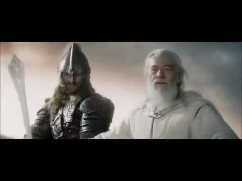 Lord of the Rings- Gandalf and Eomer helping Rohan on the Two Towers - YouTube