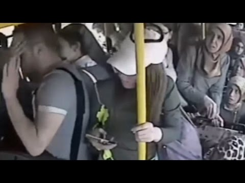 A Turkish man was given a beating by a group of women on a bus - YouTube
