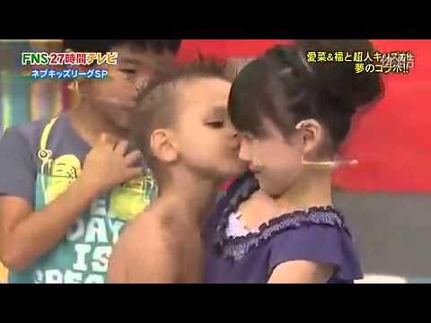 外国小男孩亲吻日本小萝莉芦田爱菜 - YouTube