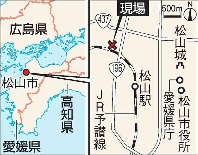 包丁持った男、女性人質に立てこもり 松山の集合住宅:朝日新聞デジタル