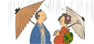 傘のマナー!