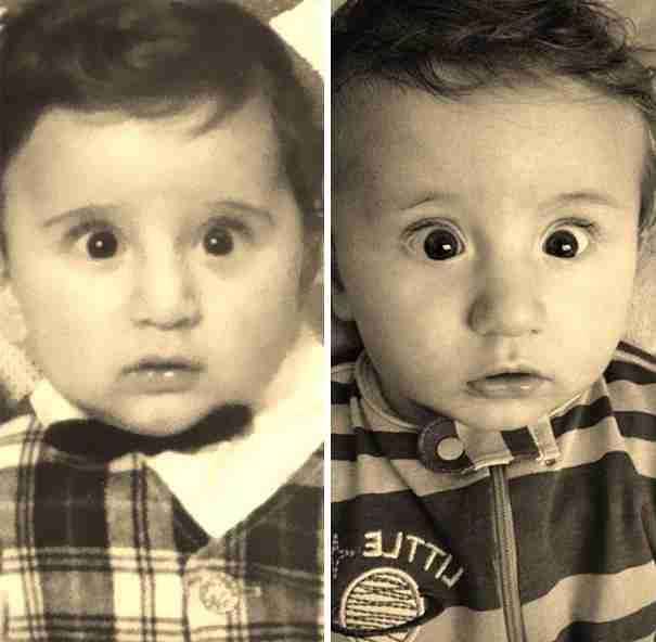【ここまで似る?】同じ年頃に撮った親子がそっくりすぎる写真22連発! | バズット