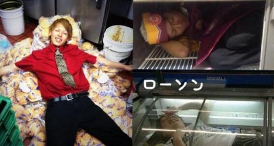 コンビニの冷凍ケースに横たわり写真撮影…器物損壊容疑、2人逮捕