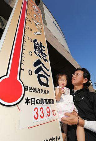 埼玉、群馬で35度超 全国初の猛暑日、熱中症注意