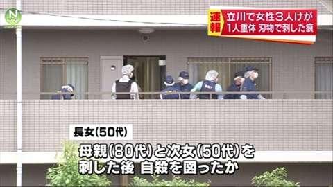 「東京・立川で女性3人けが、1人重体 刃物で刺した痕」 News i - TBSの動画ニュースサイト