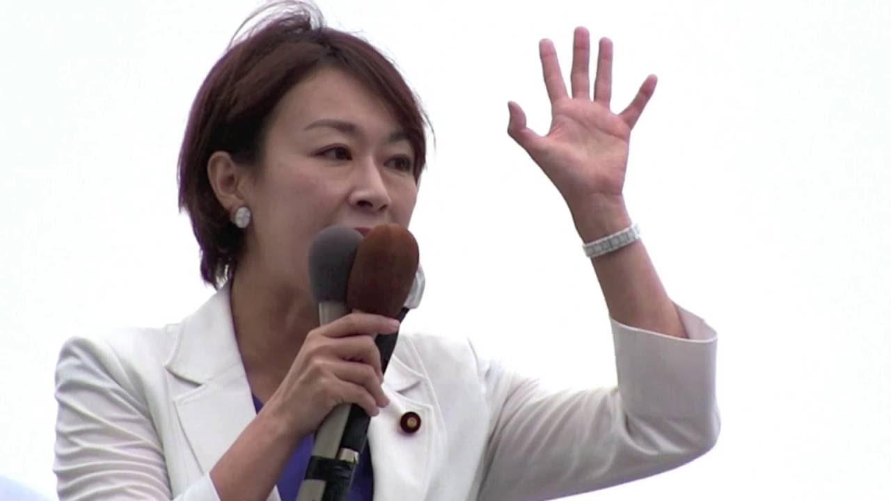 蓮舫代表代行・山尾政調会長街頭演説(神奈川・かねこ洋一/真山勇一) 2016年6月19日 - YouTube