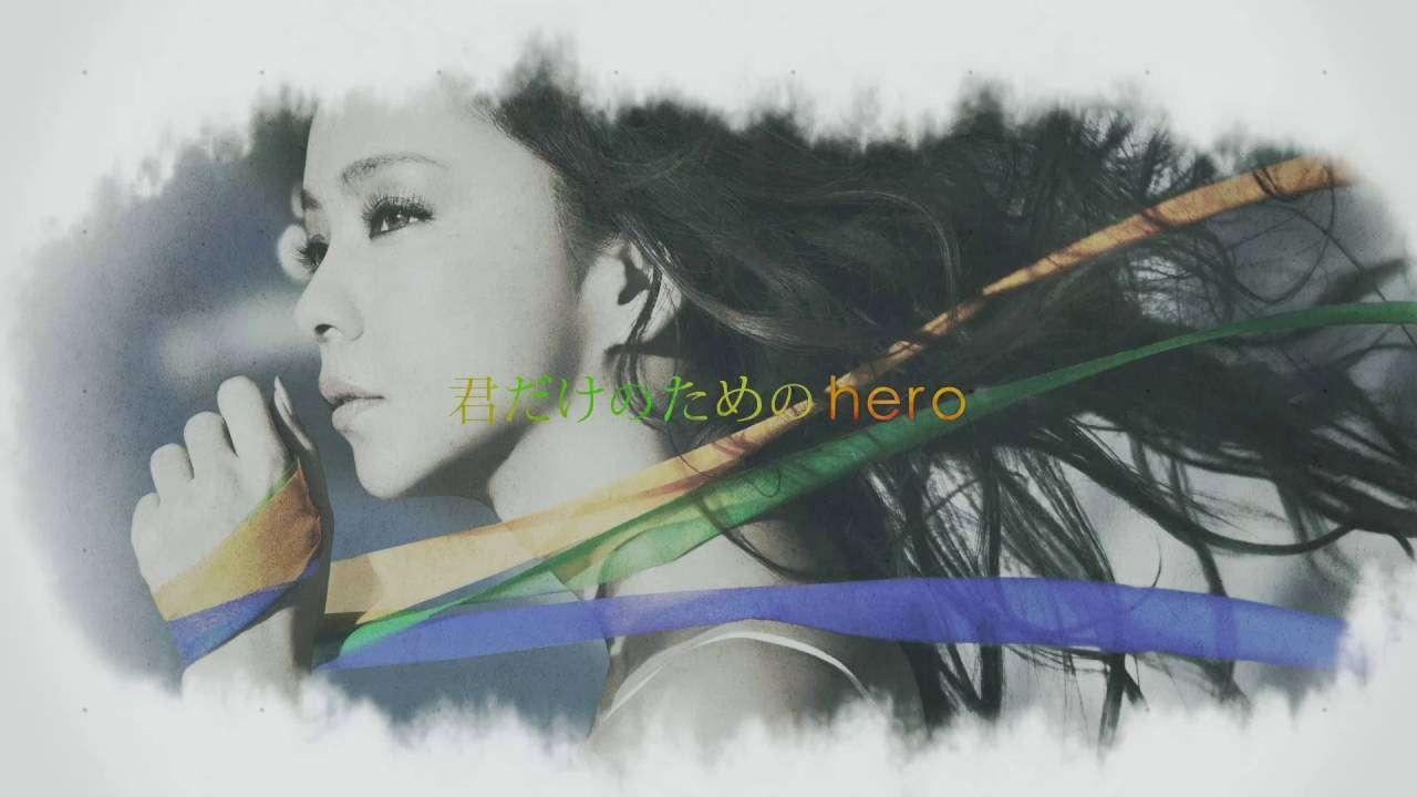 安室奈美恵 / New Single「Hero」Lyric Video - YouTube