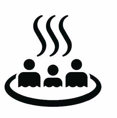オリンピックに向けて刷新された温泉マークが溶鉱炉に沈む家族みたいに見える?