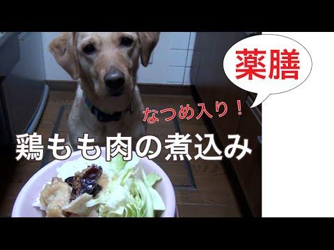 犬ご飯作り方から 鶏もも肉となつめのシンプル煮込み