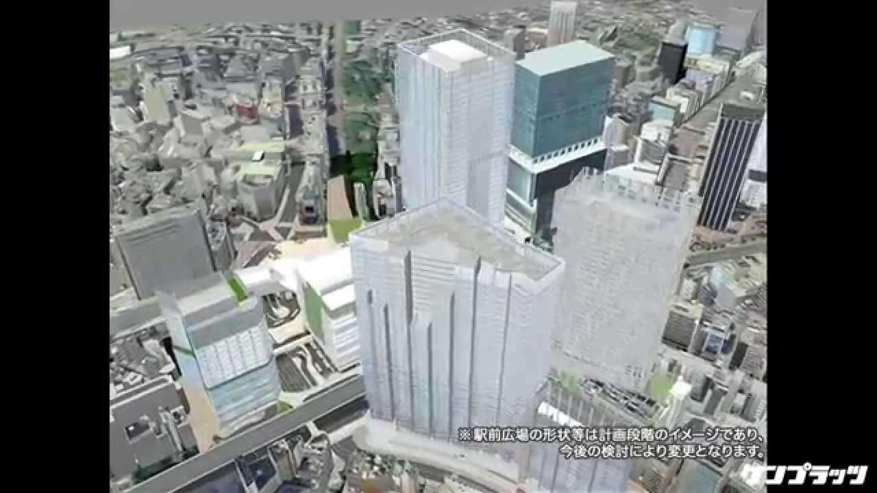 VR動画で体験、激変する渋谷駅 - YouTube