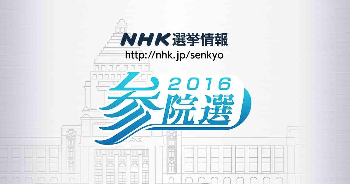 ≪選挙情報≫ NHK 2016 参院選(参議院議員選挙 候補者紹介)
