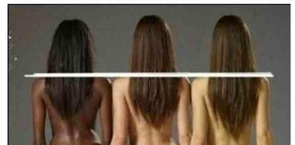 黒人・白人・黄色人の女性のスタイルが一発でわかる画像