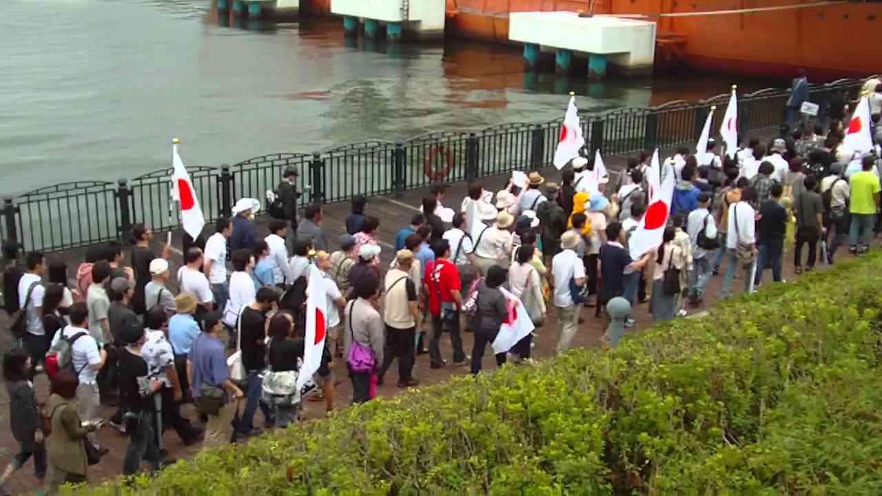 フジテレビ抗議デモ2011/08/21(1/4)青海北ふ頭公園 - YouTube