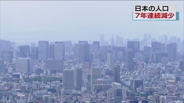 日本の人口 7年連続減少 減少幅は最大に | NHKニュース