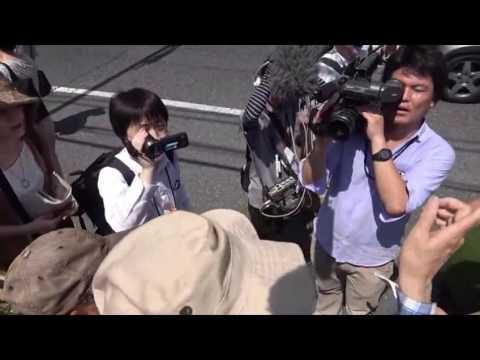 鳥越俊太郎街頭演説 巣鴨とげぬき地蔵商店街入口2016 7 16 - YouTube