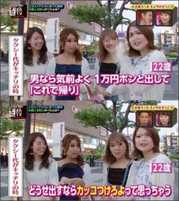 ケチだと思った瞬間→女性「タクシー代3000円欲しいって言ったらキッチリ渡す人。男なら1万円ポンッと出せ」