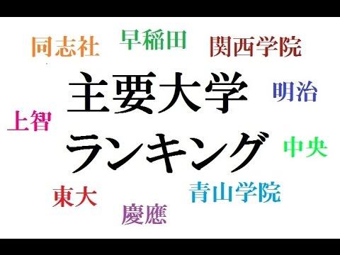 日本の主要大学ランキングを作ってみた! - YouTube