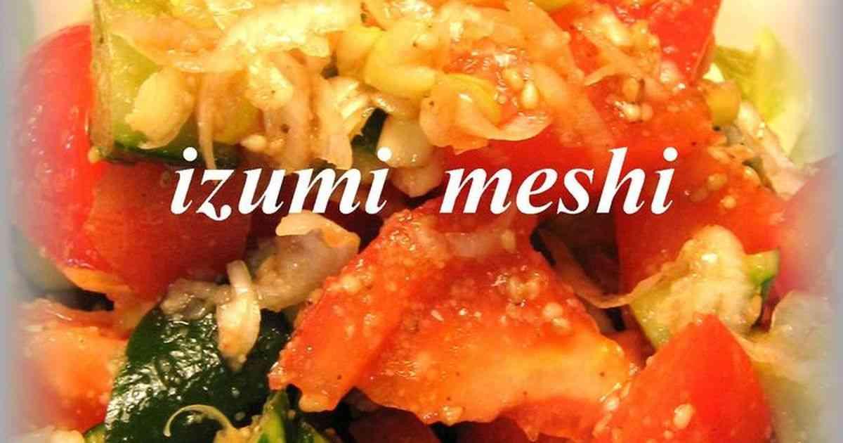トマトときゅうりのパクパクサラダ by いづみうな [クックパッド] 簡単おいしいみんなのレシピが244万品