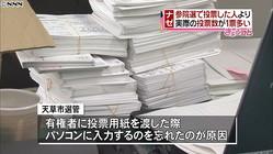 なぜ?投票者数を投票数が1票上回る…熊本
