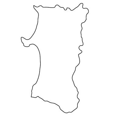 都道府県の形をベースに絵を描くトピ