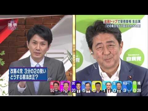 安倍総理に論破されてムッとするTBS竹内明アナ(参議院選挙 2016年7月10日) - YouTube