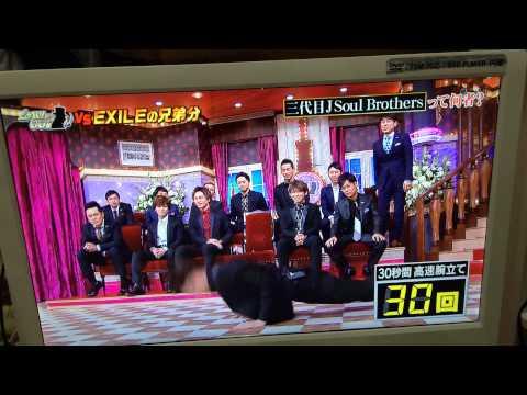 今市隆二 高速腕立て@しゃべくり007 - YouTube