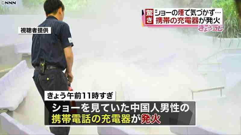 客の充電器が発火…ショー中止に TDL(日本テレビ系(NNN)) - Yahoo!ニュース