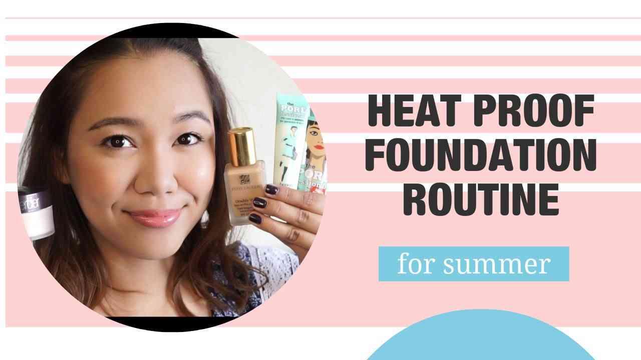 崩れない!最強夏のベースメイク | HEAT PROOF SUMMER FOUNDATION ROUTINE - YouTube