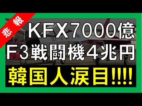F3戦闘機プロジェクト4兆円 VS 韓国KFX 7000億円 涙目の韓国人が崩壊!!【中韓日報 大福CH】 - YouTube