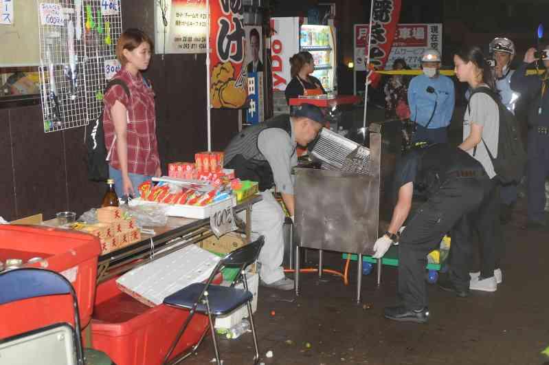 屋台の油かかり5歳女児が背中などに大やけど 10人が重軽傷 福岡・北九州市