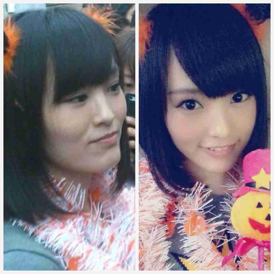 NMB48山本彩&AKB48島崎遥香、2ショットプリクラに驚きの声「さやぱる可愛すぎ」