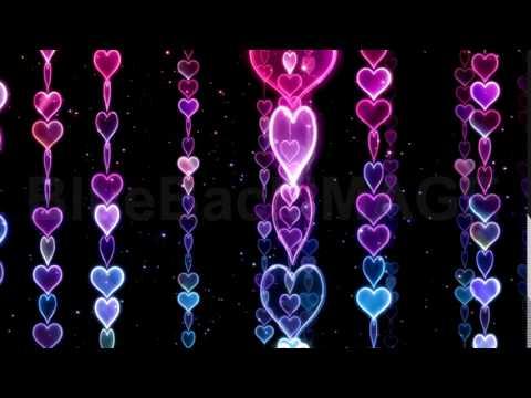 映像素材 動画素材 ハート キラキラ イルミネーション Chain line Heart 1RnHb - YouTube