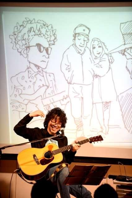 ディランを聴いて歌って描きまくる!浦沢直樹、圧巻のライブドローイング – 画像一覧 – 音楽WEBメディア M-ON! MUSIC(エムオンミュージック)