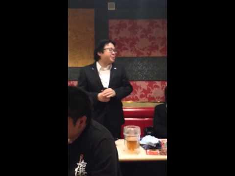 桜井会長「Close your eyes」を歌う - YouTube