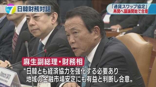 日韓通貨スワップ協定再開に向け議論開始で合意 | NHKニュース
