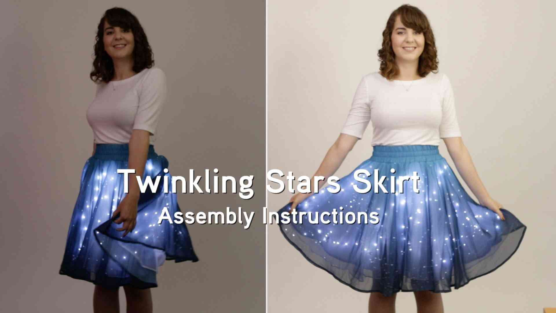 Twinkling Stars Skirt (Assembly Instructions) from ThinkGeek - YouTube