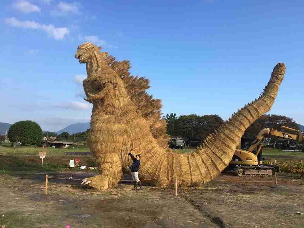 全文表示   わらで作った「シン・ゴジラ」がリアルすぎてスゴい 福岡・筑前町の収穫祭でお披露目 : J-CASTニュース