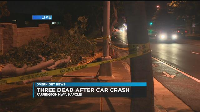 3 dead in single-car crash in Kapolei - Hawaii News Now - KGMB and KHNL
