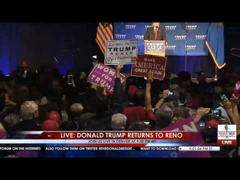 Donald Trump Rushed Off Stage by Secret Service - Reno, NV - YouTube