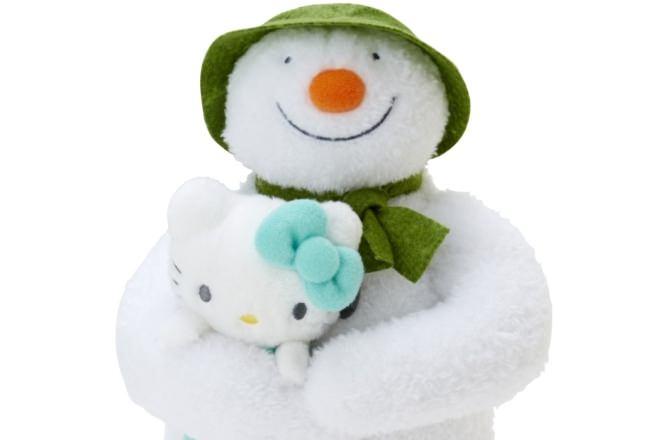 スノーマンとハローキティが初のコラボ! 冬ぴったりなグッズ15点が発売