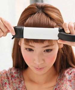 前髪のセットの仕方