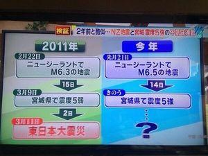 【2年前と酷似】ニュージーランドで地震→宮城で地震→大地震?? - NAVER まとめ